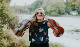 Natalie Kress with 2 violins_photo credit Alex Marcano