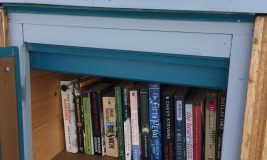 Little Free Library at West Meadow Beach