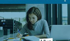 Girl studying for Civil Service exam